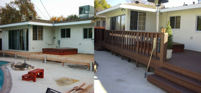 Before & After: Beautiful Deck Construction