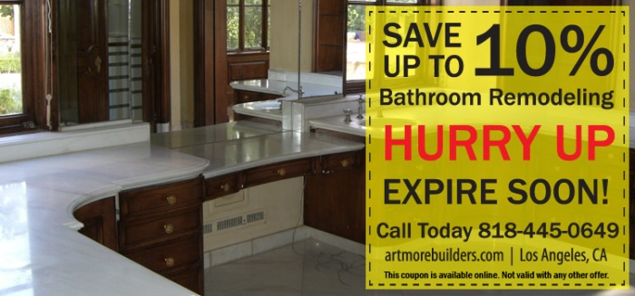 Coupon of the Month: Bathroom Remodeling and Construction